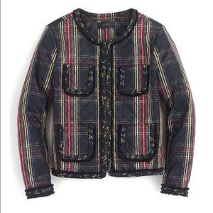 NWT J. Crew Stewart Plaid Quilted Lady Jacket